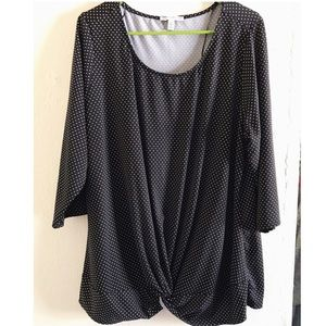 Notations Tops - *3 for $30* Notations 2x polka dot blouse